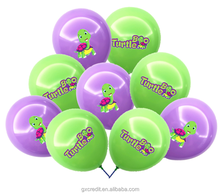 assorted colors round shaped custom logo print latex balloon with logo /website printing