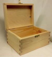 BSCI &FSC Handmade unfinished cheap pine unfinished wood toy box