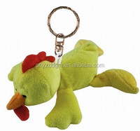 plush chicken keychain toy/plush yellow chicken toys/stuffed chicken toys