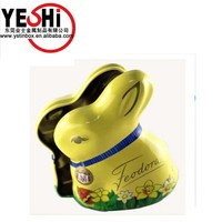 Best Selling Easter colored chocolate candy tin box for gift