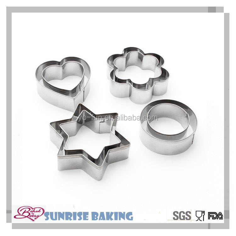 Different custom bulk metal cookie cutters biscuit cutters