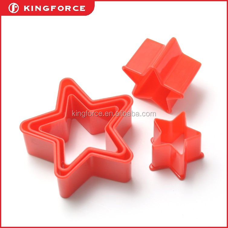 High quality plastic cake decorating tools different size star set KF620051