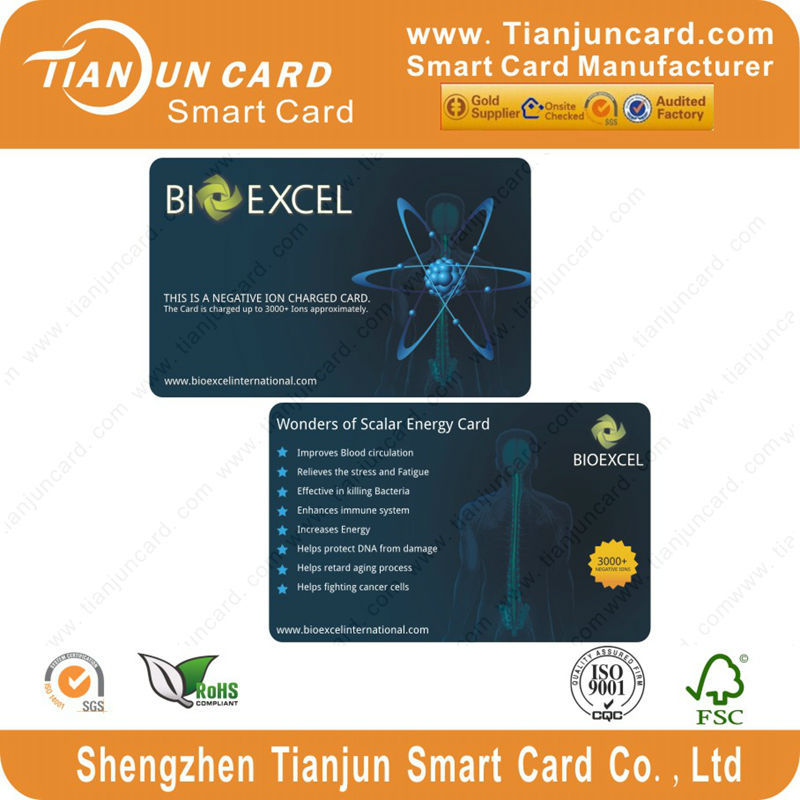 Large Stock Wholesale Price Negative Ion Scalar Energy Card
