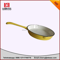 good quality with cheap price for three sizes non-stick round enamel fry pan