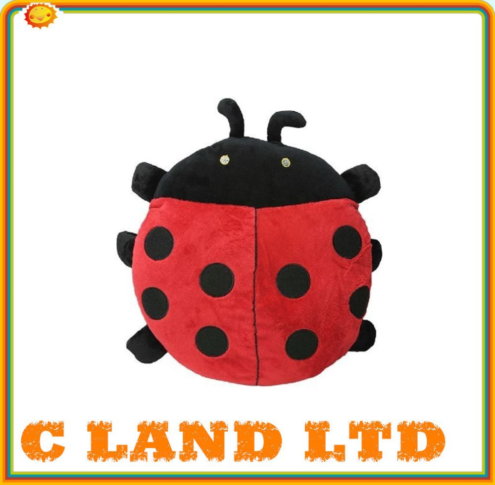 13 inch stuffed plush ladybug hand warmer