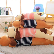 70CM Cute Stripe Lie Prone Papa Dog Plush Toy Stuffed Dolls Sleeping Pillow Cushion Baby Best gifts for Children
