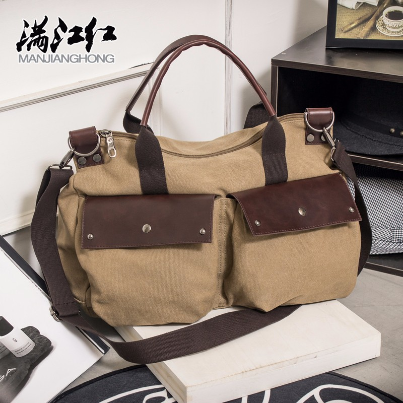 Wholesale new model men shoulder bag cell phone messenger bag canvas handbag