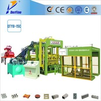QTY8-15C fully automatic cement and solid brick machine / plastic pallets for brick block making machine