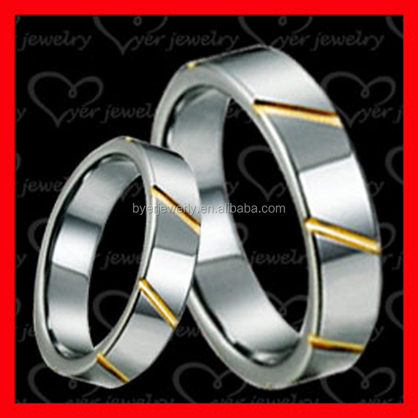 Unique designed engagement rings tungsten ring custom made for couples