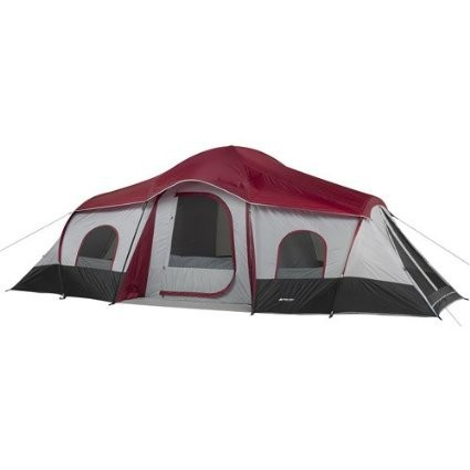 extra large Double layer Outdoor 10 Person 3 Room XL Family Cabin Tent