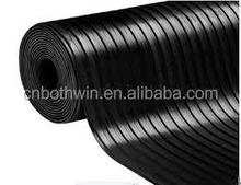 rubber flooring for gym with ribbed mat in china