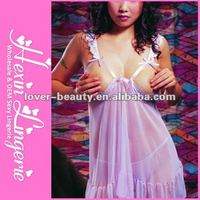 2013 Wholesale Purple Open Breast Sexy Baby Doll Lingerie
