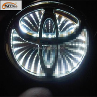 Wholesale Auto 3D Led Logo Badge Light with Stickers, 3D/4D/5D Car Led Logo Emblem for Toyota