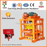 Lower investment QT4-40 manua brick making machine / cement brick making machine price in india