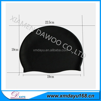 Swimming silicone rubber cap with printing logo