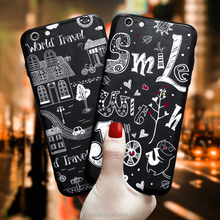 CITYCASE Factory Wholesale Protective Mobile Phone Shell for iphone6s case cover , letter design for iphone 6s case silicone