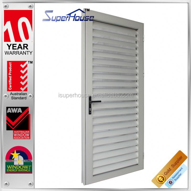 10years warranty Prefab house aluminium vented exterior door