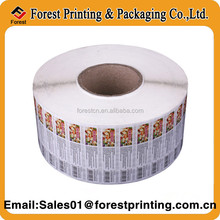 Printing custom adhesive sticker,adhesive custom roll printing machine label