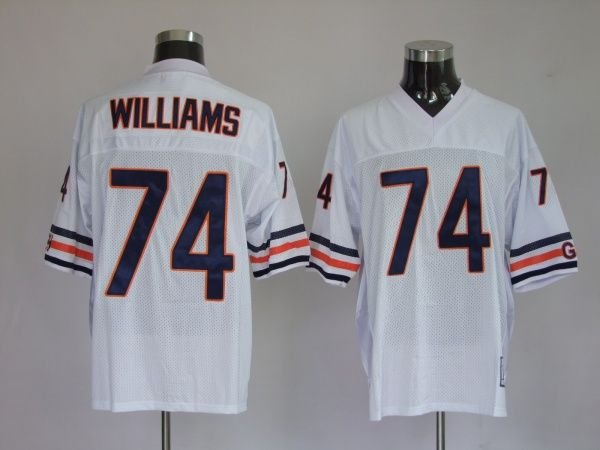Chicago Bears #74 Chris Williams-white jerseys football/rugby wholesale authentic quality freeshipping paypal