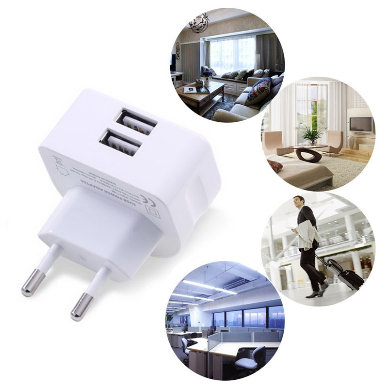 High Speed multi Dual Port USB Travel Wall Charger 2 Port Plug Power Adapter for iPhone mobile phone provide OEM