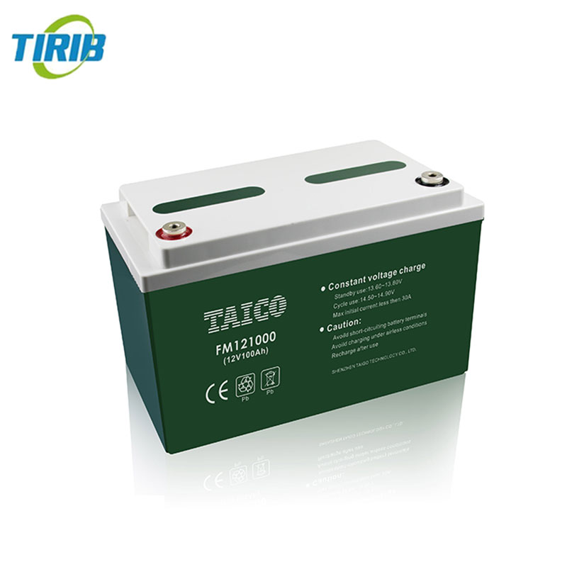 Rechargeable storage battery 12v 100ah maintance free flooded lead acid battery