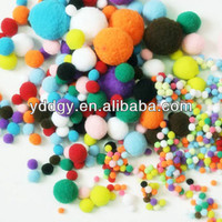 China factory supply beautiful multi colors polypropylene pom poms for party or wedding decoration