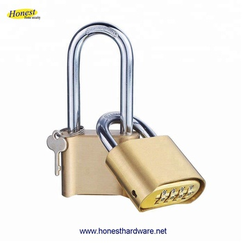 Brass 4 digital combination padlock coded lock with bottom password