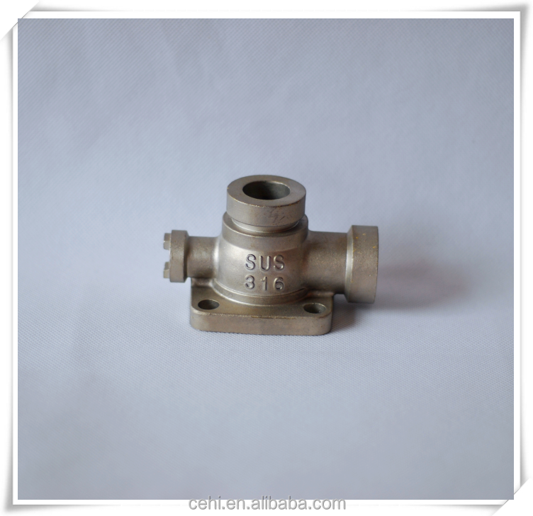 TUV certificate precision casting parts customized china / stainless steel precision casting parts / pump cover with good price