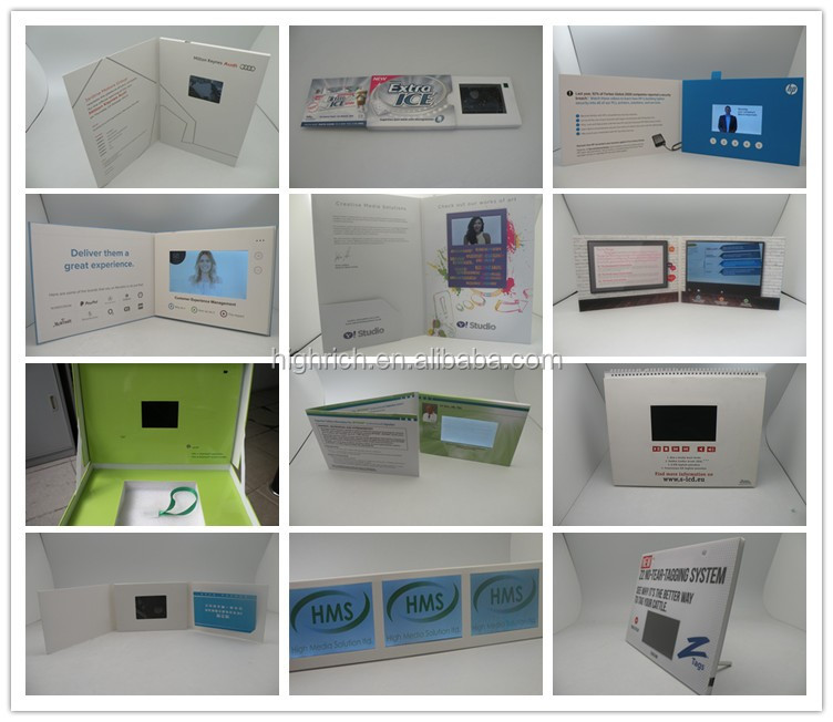 2.4'' video business card with lcd screen
