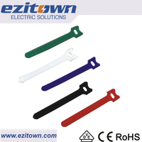 MGT printed nylon custom logo magic tape hook and loop cable ties velcro cable strap,cable tie sticker