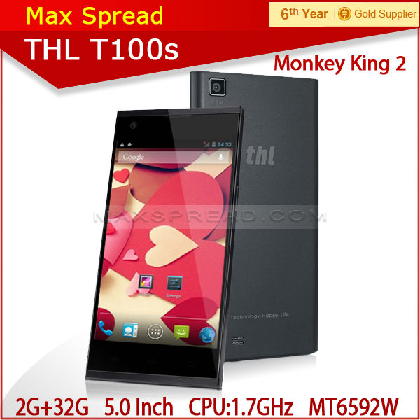 Original THL T100S Iron Man MTK6592 Octa Core 5 inch Gorilla Glass Screen 2GB 32GB NFC OTG Android Mobile Phone