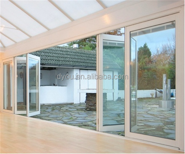 High quality well design aluminum accordion patio doors for Quality patio doors
