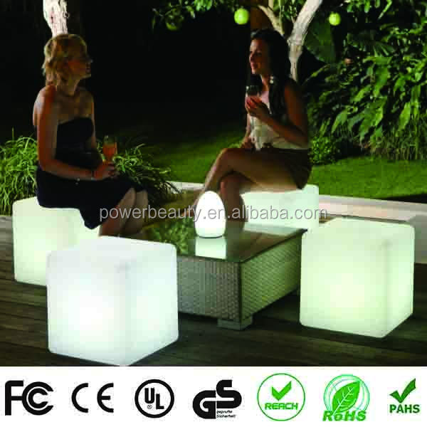 Night Club Furniture Glowing 3D LED Cube