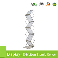 advertising acrylic brochure holder Literature rack z shape exporter
