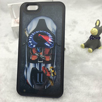Newest Style Liquid Flowing Car Design Mobile Phone Case For Iphone 6,Hard Back Phone Cover For IPhone 5
