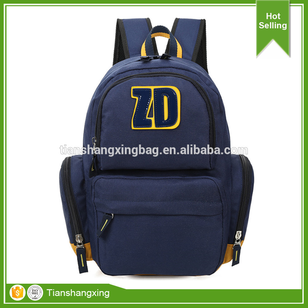 Fashionable Canvas School Backpack for Teenage boys