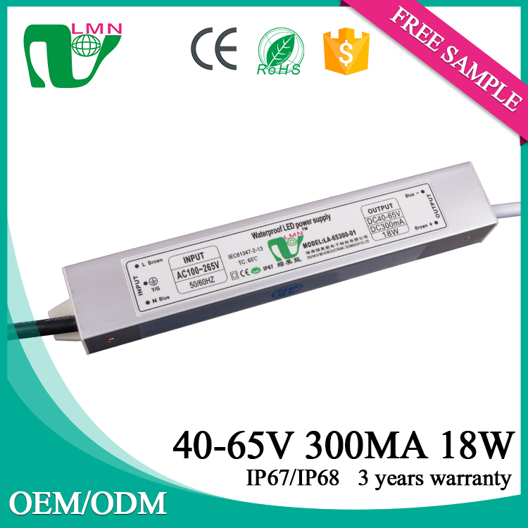85V 300ma waterproof constant current led driver