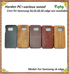 Best selling cover case for samsung galaxy grand s6 edge, for wooden case samsung galaxy s6 edge case