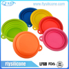 OEM Aliexpress Factory Cheap Costing Collapsible Disposable Silicone Pet Bowl