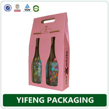 wine beverage cheap cardboard foldable corrugated wine case box wholesale