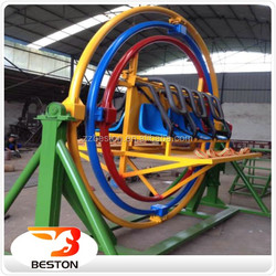 4 Seats Rotating Human Gyroscope,Thrilling 3d Space Ring For Sale In Theme Park Rides