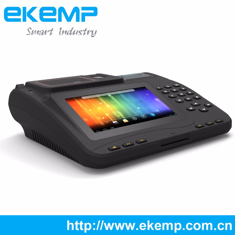 7 Inch Touch Screen Android Countertop Terminal with Fingerprint Scanner