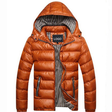 Hot Sale New Men Casual Heated Down Jacket With Removable Hat