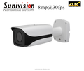 H.265 4K IR Bullet CCTV Camera 8MP IP Camera with fixed lens
