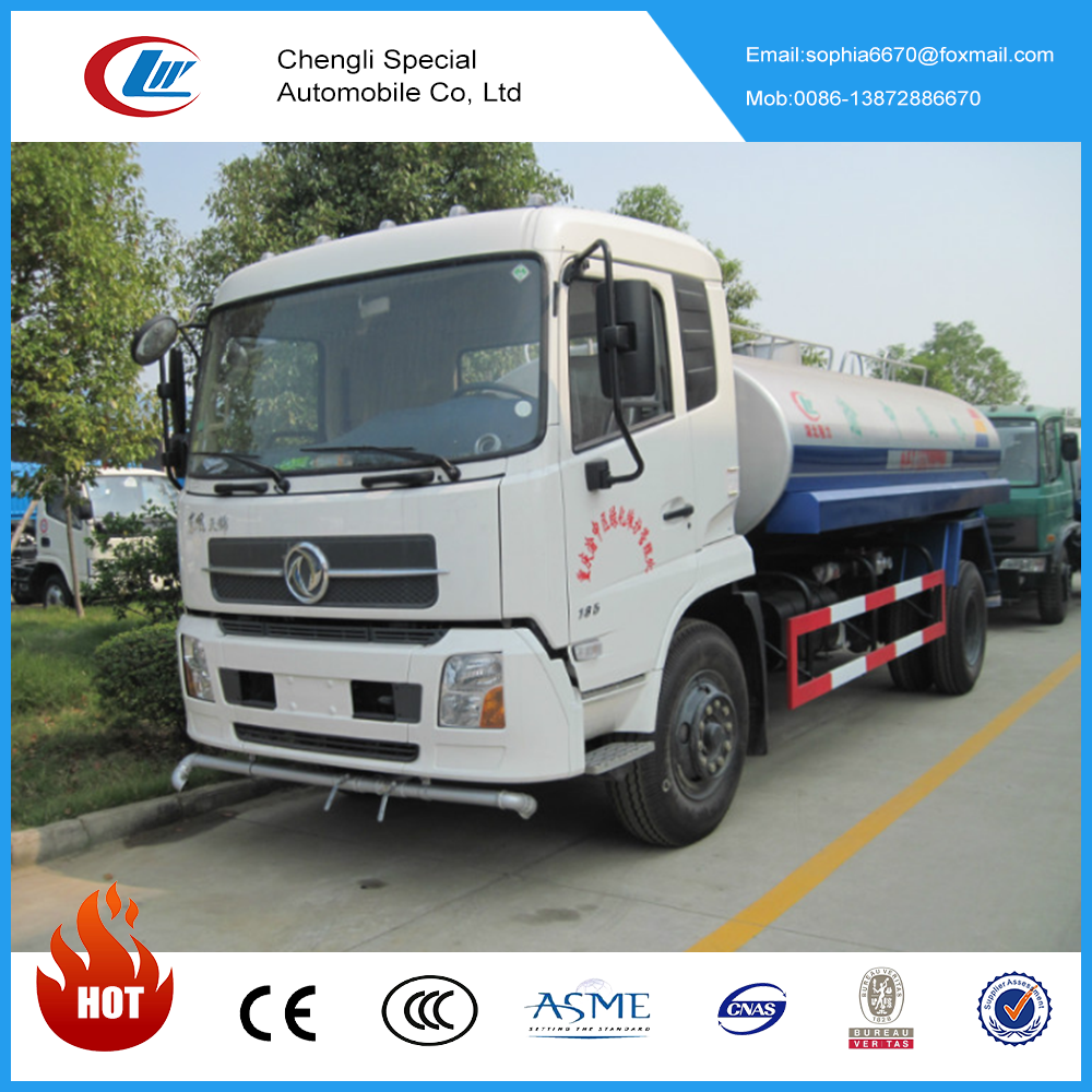 DongFeng 8000 litres 4x2 water tank truck 8ton water spray truck for hot sale