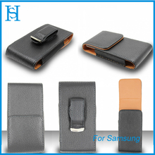 Faux Leather Pouch Case for Samsung Phones Vertical Belt Clip Holster Cover