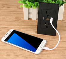 Hot Universal USB Wall Socket AC 110-250V US UK EU AU Wall Socket 2 Port 5.0V USB Outlet Power Charger for Cellphone Wholesale