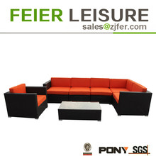 Hot sale patio furniture rattan flat sofa set