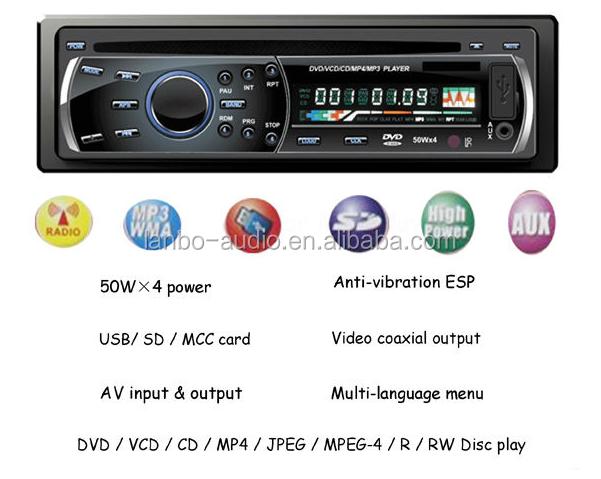 Hot sale remote control universal detachable panel one din car dvd car audio system