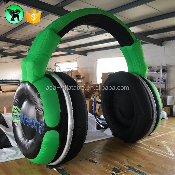 Headphone Green Inflatable Start Arch Blue Finish Arch Customized Black Archway Inflatable For Race A802